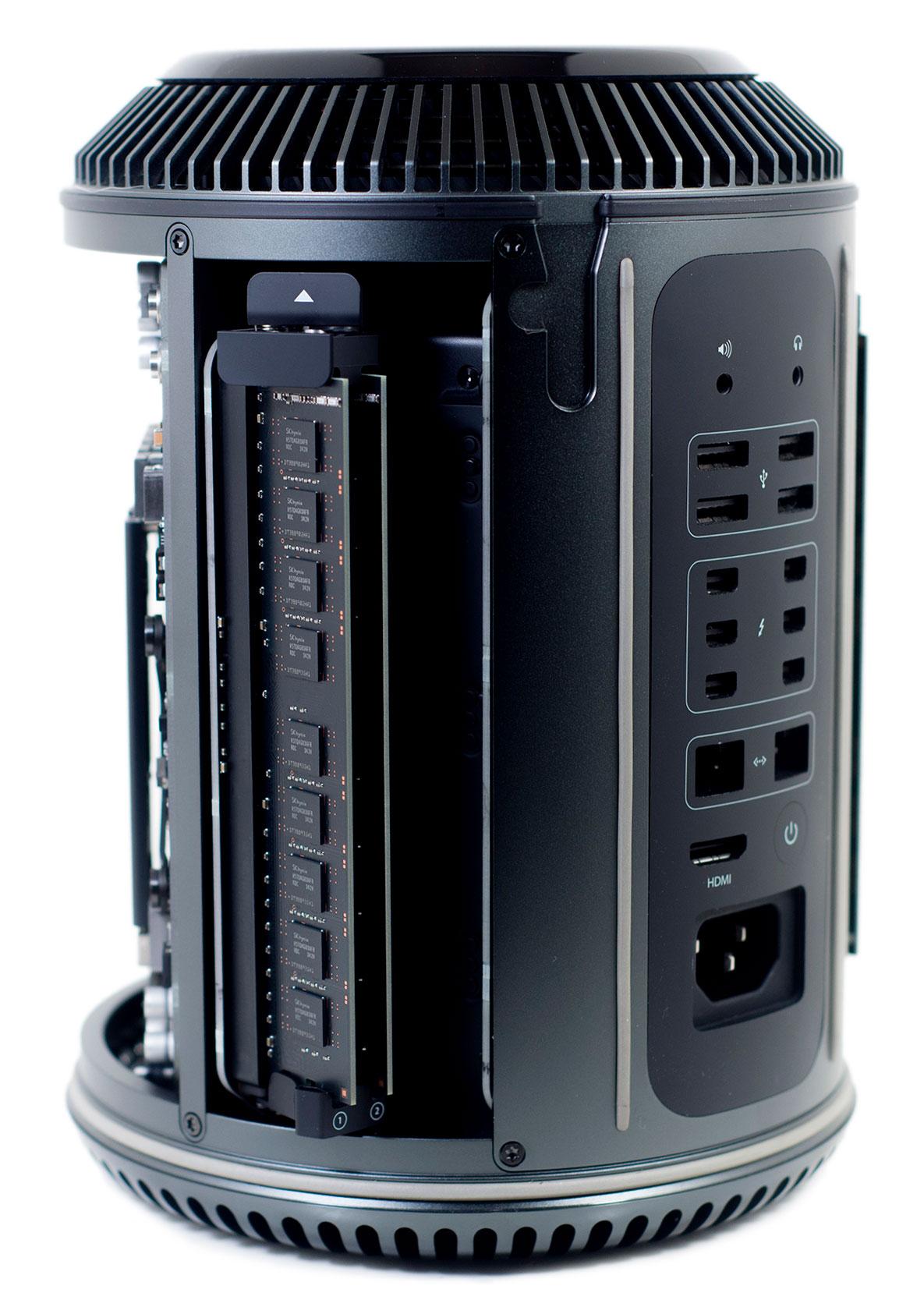 Mac Pro (Late 2013): 3,7-GHz 4-core Intel XEON-Processor - 256 GB SSD - 2x FirePro D300 2 GB - 12 GB RAM (★★★★☆)