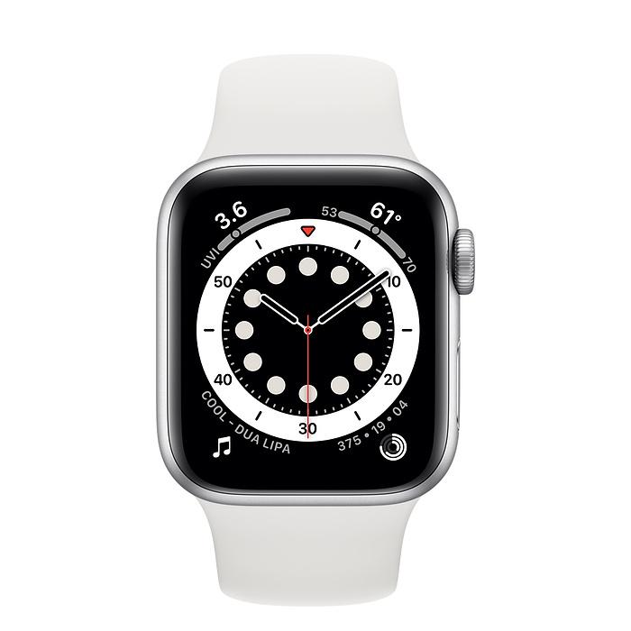 Watch Series 6 - Aluminium kast Zilver 40mm, Sportbandje Wit (Nieuw)