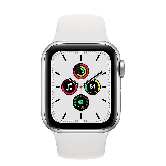 Watch Series SE - Aluminium kast Zilver 40mm, Sportbandje Wit (Nieuw)