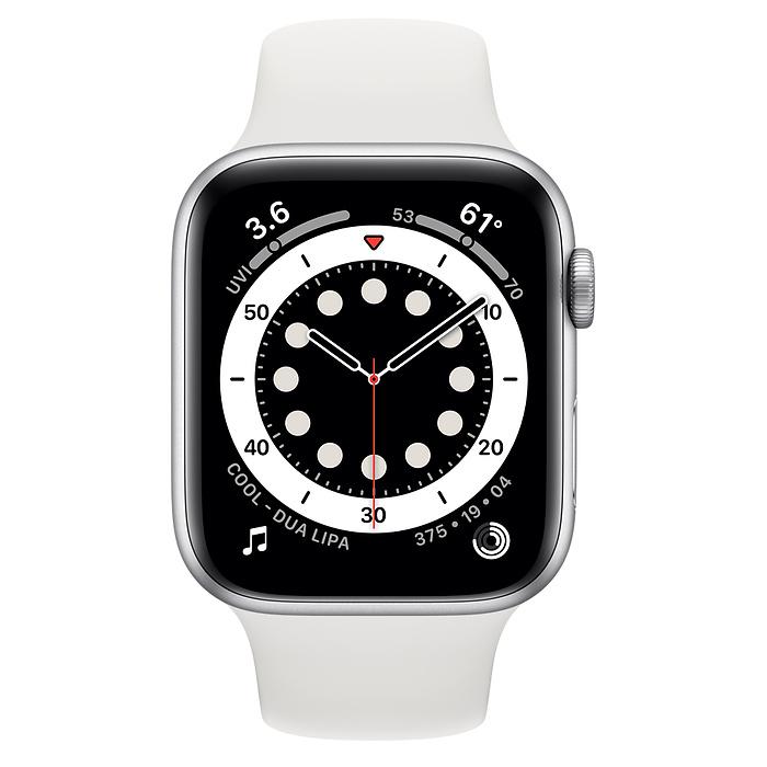 Watch Series SE - Aluminium kast Zilver 44mm, Sportbandje Wit (Nieuw)