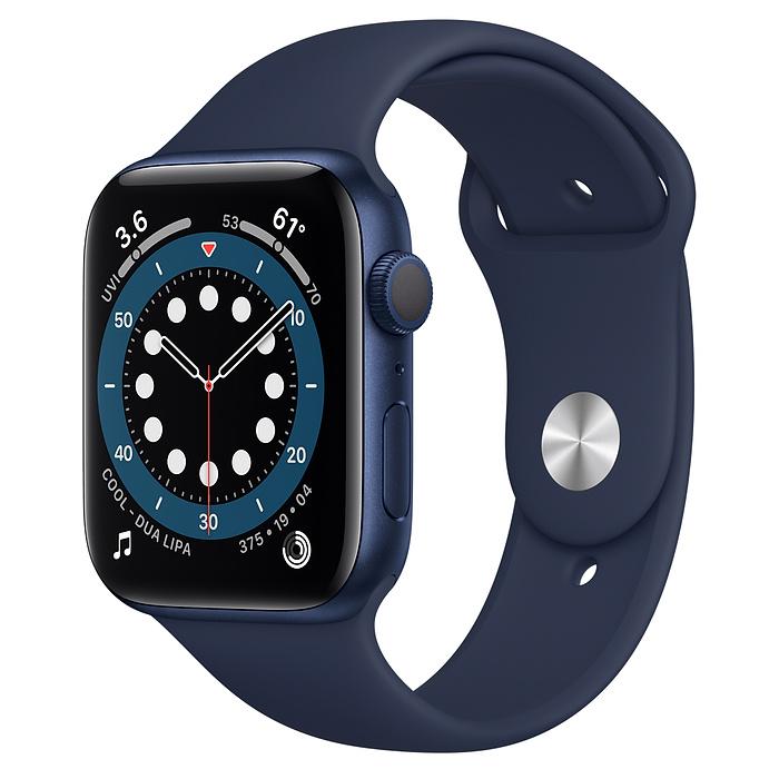 Watch Series 6 - Aluminium kast Blauw 44mm, Sportbandje Donkermarineblauw (Nieuw)