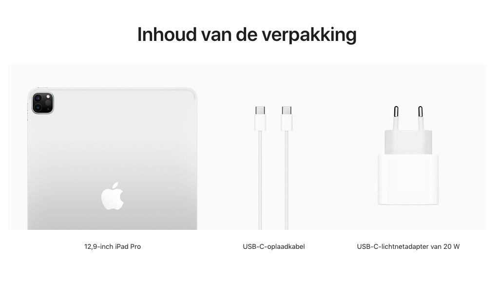 12,9‑inch iPadPro, Wi‑Fi+Cellular, 128GB, zilver (Nieuw)