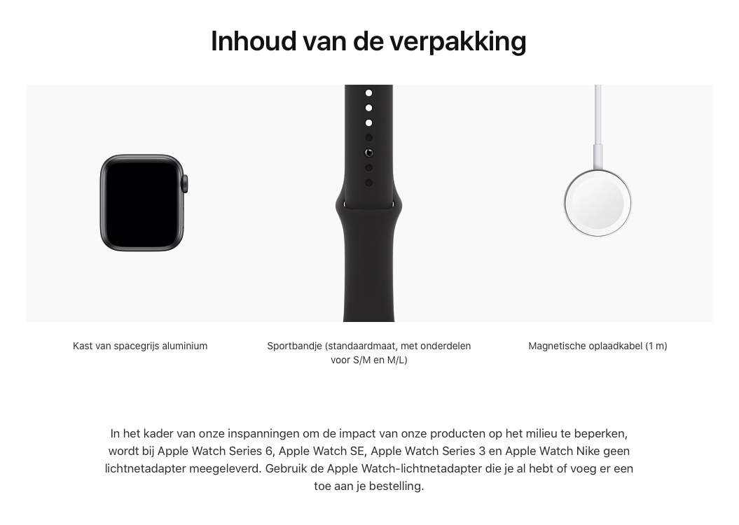 Watch Series SE - Aluminium kast Spacegrijs 40mm, Sportbandje Zwart (Nieuw)