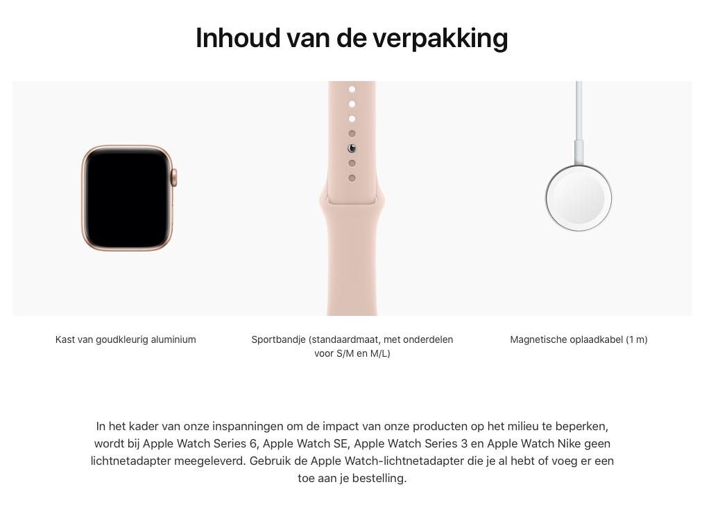 Watch Series SE - Aluminium kast Goud 44mm, Sportbandje Rozenkwarts (Nieuw)