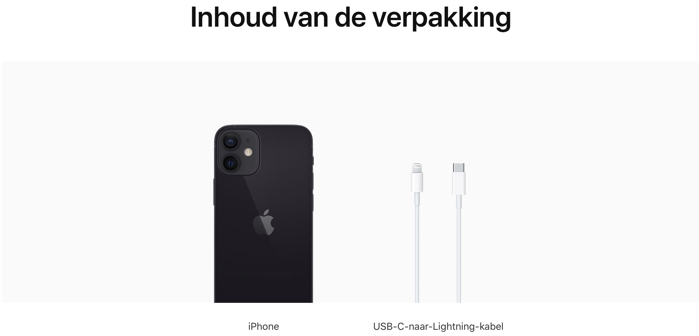 iPhone 12 mini: 128 GB - Zwart (Nieuw)