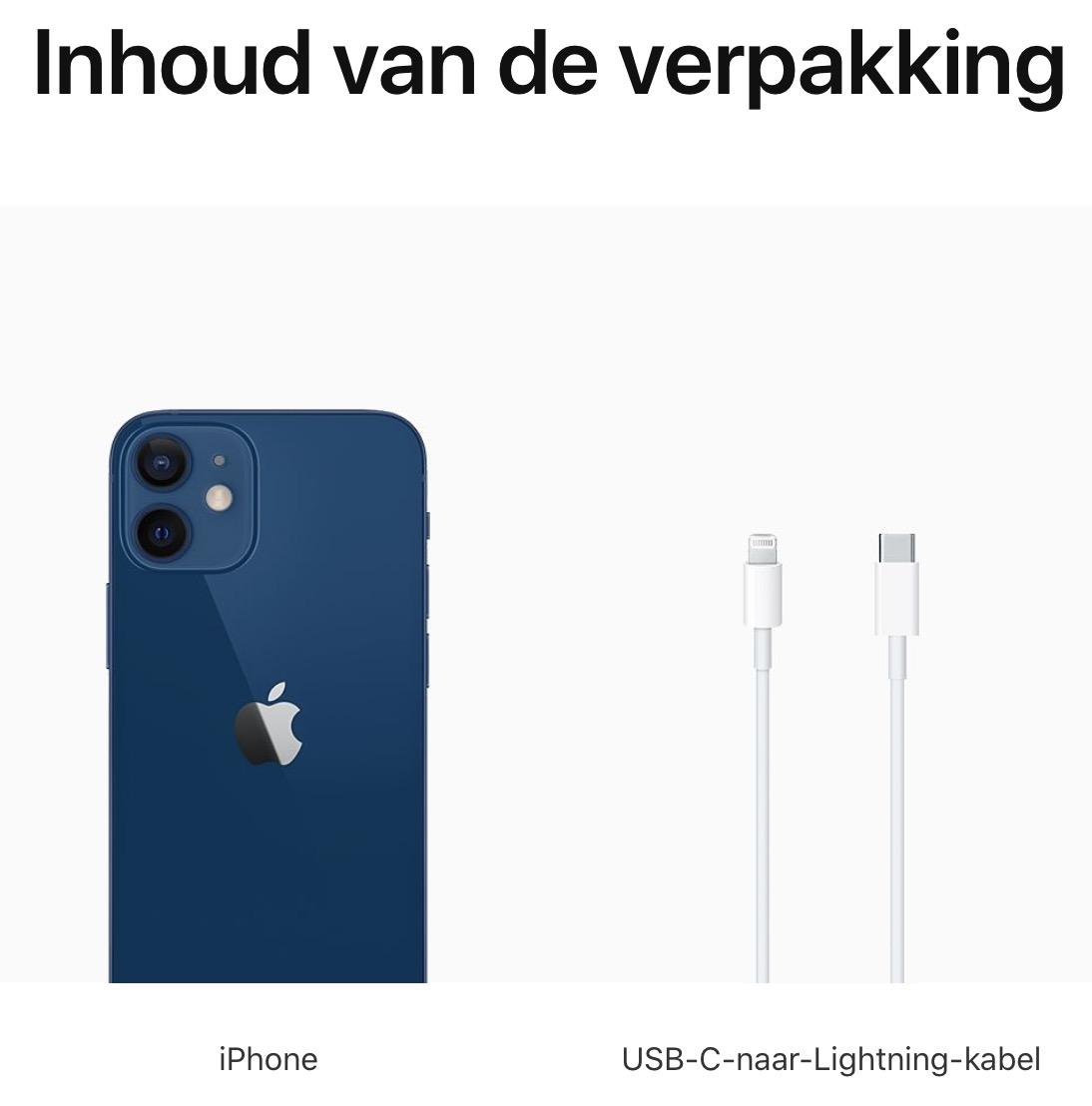 iPhone 12 mini: 256 GB  - Blauw (Nieuw)
