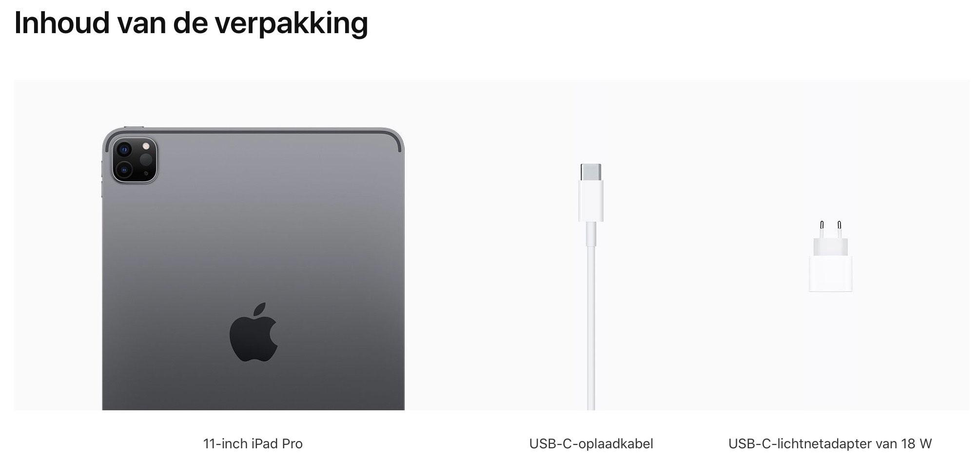 11‑inch iPadPro, Wi‑Fi, 256GB, spacegrijs (Nieuw)