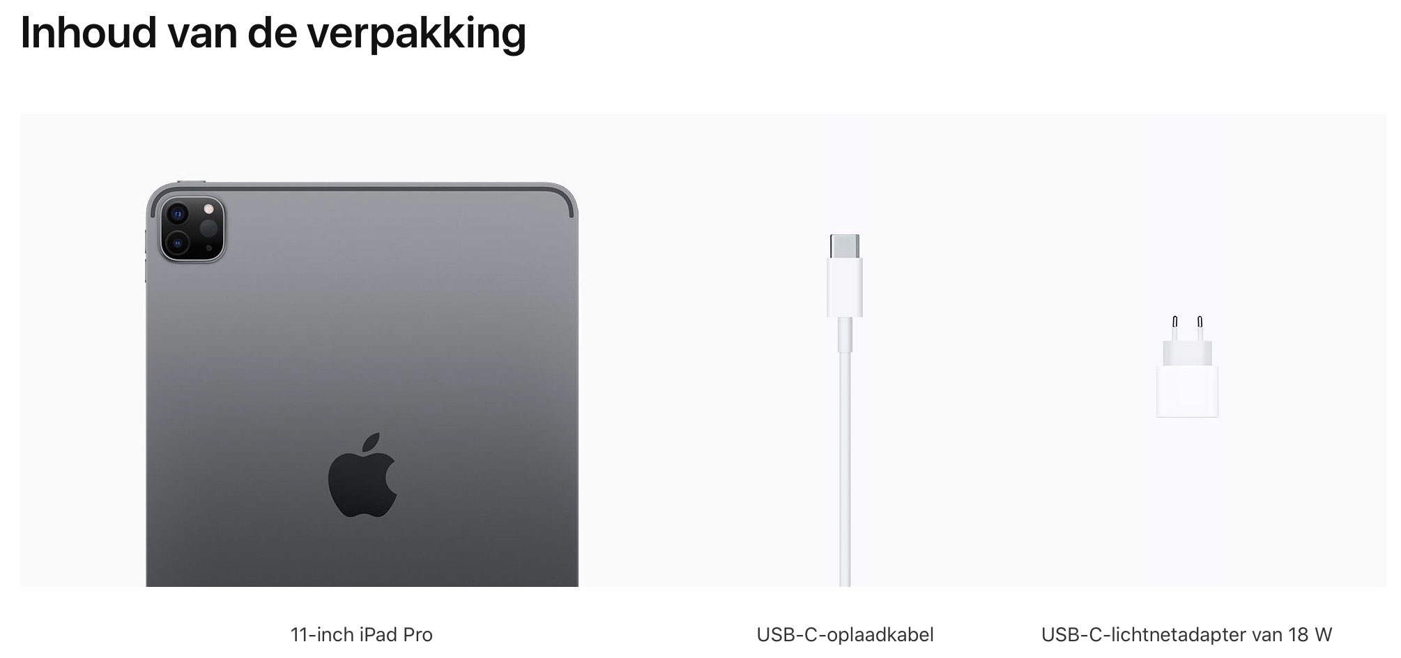 11‑inch iPadPro, Wi‑Fi+Cellular, 512GB, spacegrijs (Nieuw)