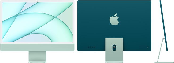 24‑inch iMac  (M1, vier poorten, 2021) - 256 GB - Groen (Nieuw)