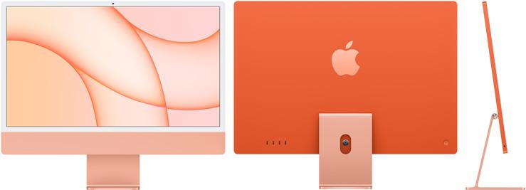 24‑inch iMac  (M1, vier poorten, 2021) - 256 GB - Oranje (Nieuw)