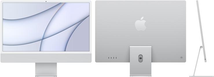 24‑inch iMac  (M1, twee poorten, 2021) - Zilver (Nieuw)