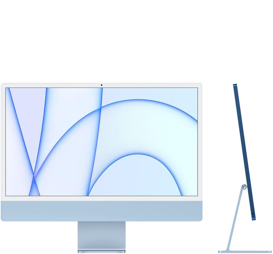 24‑inch iMac  (M1, vier poorten, 2021) - 256 GB - Blauw (Nieuw)