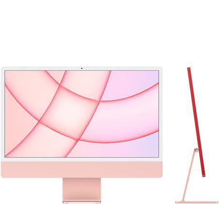 24‑inch iMac  (M1, twee poorten, 2021) - Roze (Nieuw)