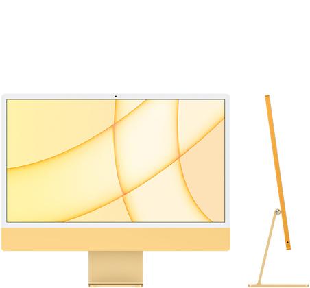 24‑inch iMac  (M1, vier poorten, 2021) - 256 GB - Geel (Nieuw)