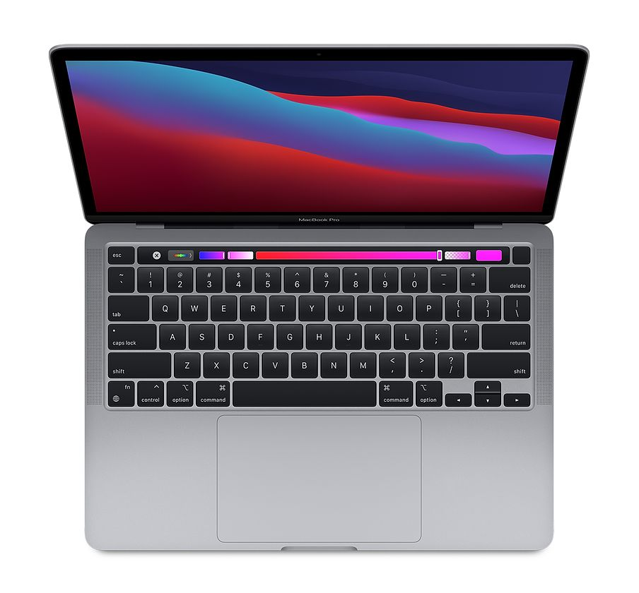 13‑inch MacBook Pro (2020) - Spacegrijs - Apple M1‑chip met 8‑core CPU en 8‑core GPU - 8 GB RAM - 512 GB SSD - Twee (USB...